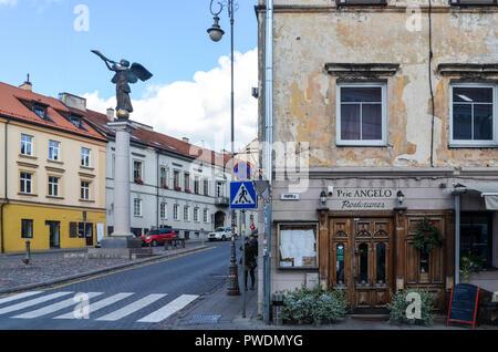 Angel of Uzupis, in the alternative neighborhood of Uzupis, Vilnius, Lithuania - Stock Image