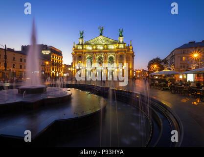 Lviv Opera House - Stock Image