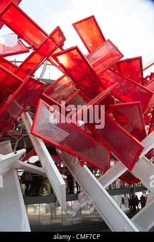 Coca Cola Beatbox on a sunny day at Olympic Park, London 2012 Olympic Games site, Stratford London E20 UK, - Stock Image