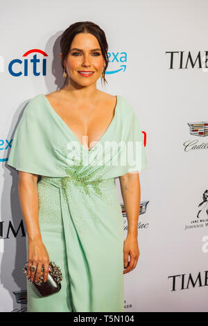 Emilia Clarke attends TIME 100 GALA on April 23 in New York City - Stock Image