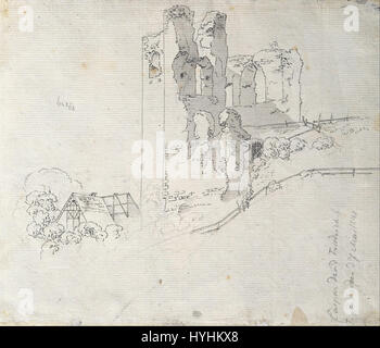 Caspar David Friedrich   Ruins with the Roof of a Farmhouse   Google Art Project - Stock Image