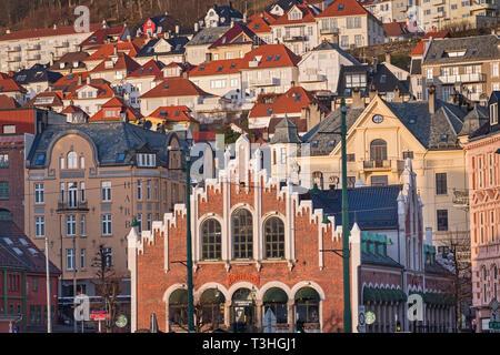 Kjøttbasaren building Bryggen Bergen Norway - Stock Image