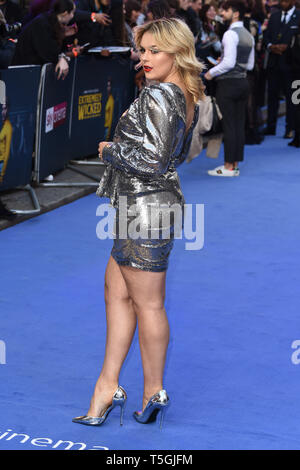 London, UK. 24th Apr, 2019. LONDON, UK. April 24, 2019: Tallia Storm arriving for the 'Extremely Wicked, Shockingly Evil And Vile' premiere at the Curzon Mayfair, London. Picture: Steve Vas/Featureflash Credit: Paul Smith/Alamy Live News - Stock Image