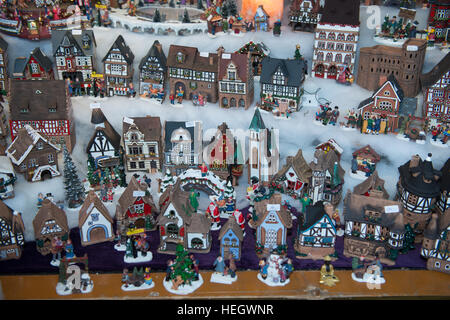 Model houses on sale in the  Trier Christmas market - Stock Image