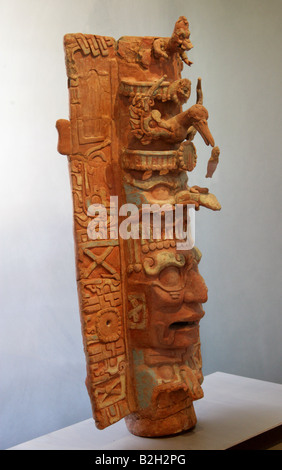 Mayan Art, Palenque Archaeological Museum, Chiapas State, Mexico - Stock Image