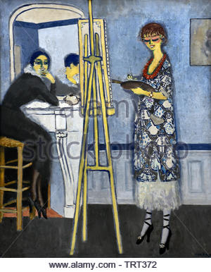Passe-temps honnête (1920) - hobby honesty by Kees van Dongen (Cornelis Theodorus Maria) born in 1877 was a Dutch-French painter who was one of the leading Fauves. The Netherlands, France. - Stock Image