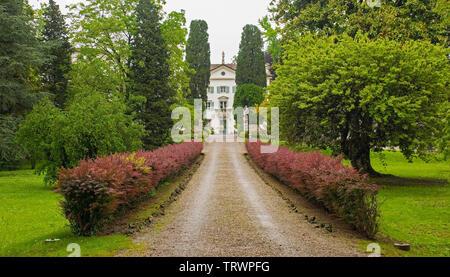 Brazzacco, Italy - May 19th 2019. The formal gardens in the Villa Del Torso Amodio in Friuli Venezia Giulia, north east Italy - Stock Image