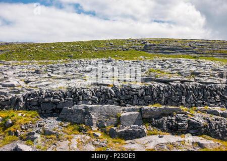 Burren National Park in County Clare in Ireland - Stock Image