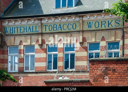 Whitehall Tobacco Works tobacco factory, Sandy Row, Belfast, Northern Ireland - Stock Image