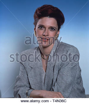 Susanne Schwab, deutsche Schauspielerin und Fernsehmoderatorin, Deutschland 1993. German actress and TV presenter Susanne Schwab, Germany 1993. - Stock Image