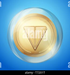 Bubble with TON sign. - Stock Image
