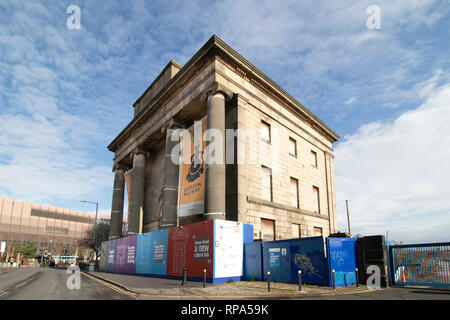 The historic Curzon Street railway station building which will be part of the High Speed 2 terminal in Birmingham. - Stock Image