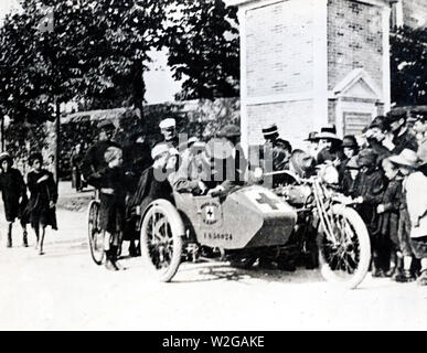A.R.C. Motorcycle in France ca. 1918 - Stock Image
