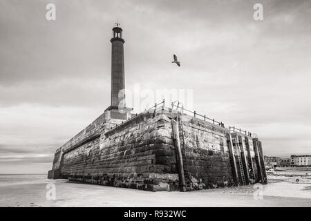 Rear of the Harbour Arm, Margate, Kent, UK - Stock Image
