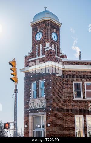 gravenhurst post office in muskoka ontario canada - Stock Image