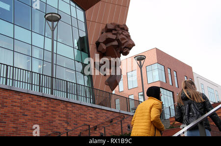 Shoppers at the new Forum complex in Gdansk city centre. - Stock Image