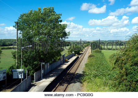 Chetnole railway station -  the single platform halt on the Heart of Wessex Line, close to Chetnole village in Dorset, UK. - Stock Image