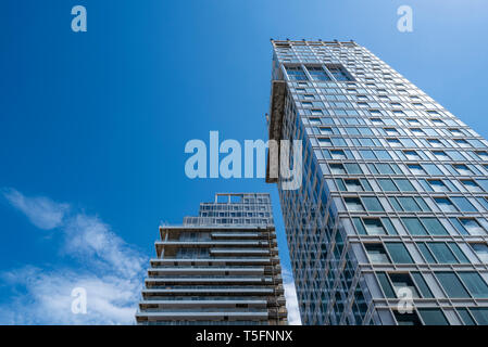 Israel, Tel Aviv-Yafo - 22 April 2019: Residential building in construction - Stock Image