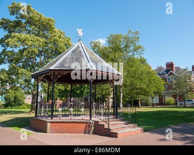 The Bandstand in Temple Gardens, Llandrindod Wells, Powys Wales. - Stock Image