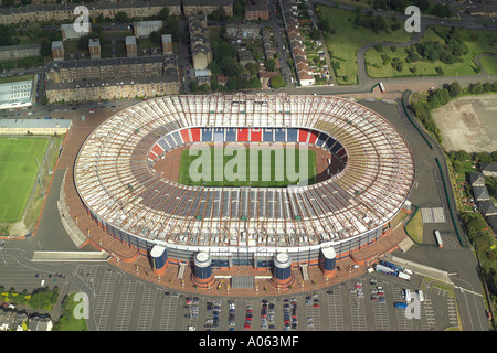 Aerial view of Hampden Park Stadium in Glasgow, Scotland's National Football Stadium, also home of Queen's Park Football Club - Stock Image