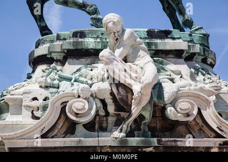 Monument in Budapest Hungary - Stock Image