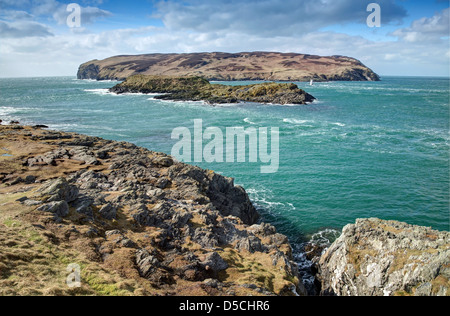 A VIew over to the Calf of Man - Stock Image