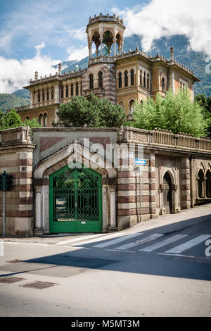 The Villa Gheza, an elaborate Moorish / Islamic style house in Boario Terme in the Brescia region of Italy, designed - Stock Image