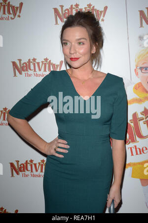 Celebrities attend 'Nativity! The Musical' Press Night held at the Hammersmith Apollo theatre  Featuring: Candice Brown Where: London, United Kingdom When: 20 Dec 2018 Credit: WENN.com - Stock Image