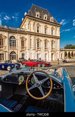 Piedmont Turin - Turin auto show 2019  - Valentino park - Valentino castle - Stock Image
