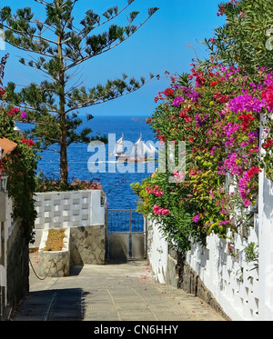 The Alley way on Crab Island - Stock Image