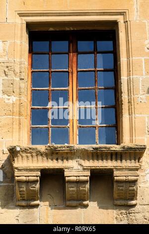 Ornate window, The Medieval Lapidary Museum, North Nicosia, Turkish Northern Cyprus October 2018 - Stock Image