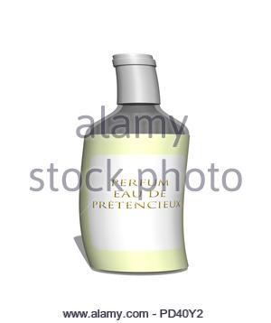 Digital Illustration - Pretentious perfume. - Stock Image