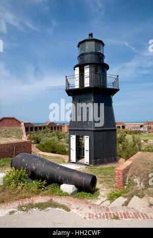 Dry Tortugas National Park - Garden Key Lighthouse - Bastion C-Fort Jefferson - Stock Image