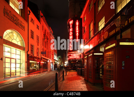 The Windmill Nightclub, a table dancing bar in London Soho. - Stock Image
