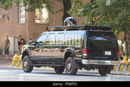Helsinki, Finland. 16th July 2018. Special security vehicle of the United States delegation Credit: Hannu Mononen/Alamy Live News - Stock Image