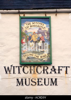 Witchcraft museum Boscastle Cornwall Selling the Wind Boscastle Floods 2004 - Stock Image