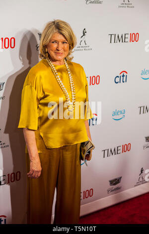 Martha Stewart attends TIME 100 GALA on April 23 in New York City - Stock Image