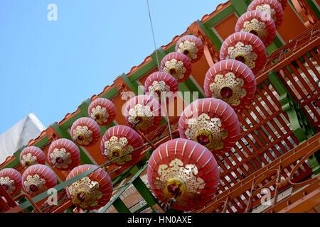 decorative lanterns in Chinatown San Francisco - Stock Image