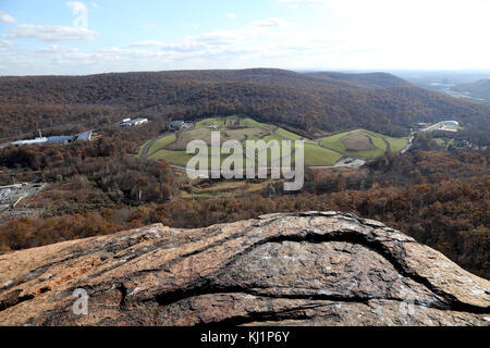 View from Ramapo Torne, Harriman State Park, Sloatsburg, NY, USA - Stock Image