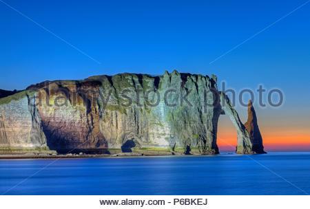 France, Haute-Normandie, Seine-Maritime, cote d'Albatre, Etretat - Stock Image