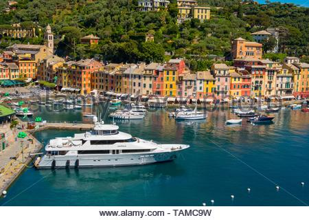 Views of the Italian Riviera, Portofino. - Stock Image