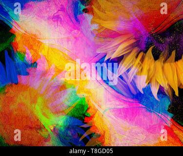 DIGITAL ART: Floral Dance 006 - Stock Image