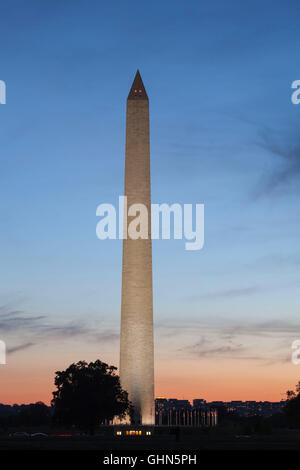 Obelisk, Washington, DC, United States - Stock Image