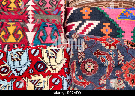 Detail of some azeri Cushions - Stock Image
