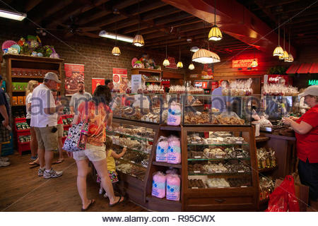 Candy Store, Savannah, Georgia - Stock Image