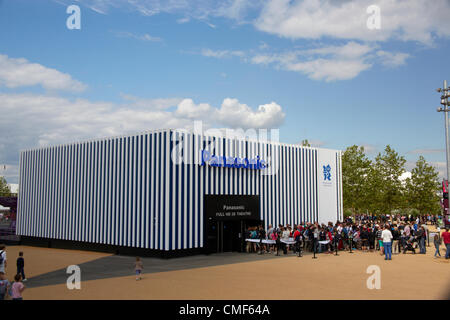 Panasonic 3D HD show at Olympic Park, London 2012 Olympic Games site, Stratford London E20 UK, - Stock Image