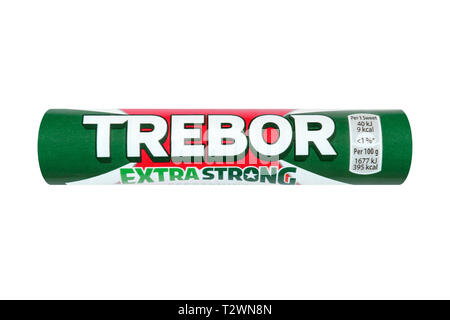 Trebor Extra Strong Mints, United Kingdom - Stock Image