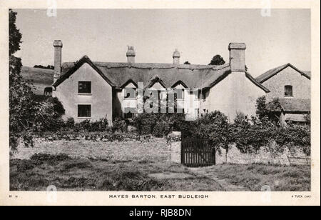 Hayes Barton, East Budleigh, Devon -- childhood home of Sir Walter Raleigh. - Stock Image