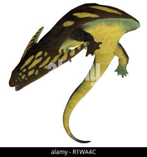 Diplocaulus was an amphibian tetrapod that lived in the Permian and Carboniferous Periods of North America and Africa. - Stock Image