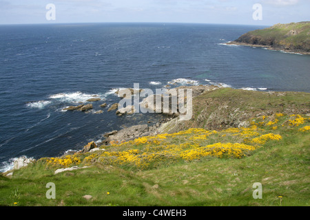 A View from Cape Cornwall, Cornwall, UK - Stock Image